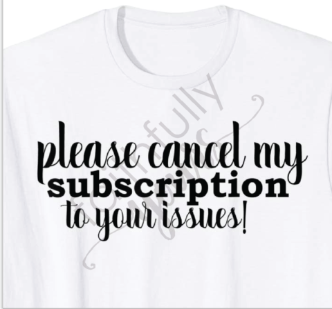 please cancel shirt