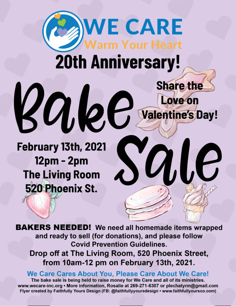 We Care Bake Sale